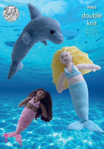 King Cole Dolphin and Mermaid Knitting Pattern 9063